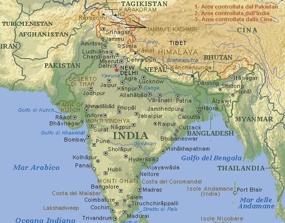 India Politica Cartina.Pakistan India Alta Tensione Dopo L Abbattimento Di Due Caccia Di Delhi